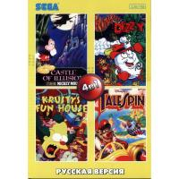 4в1 AA-4119(RU)  CASTLE OF ILLUSION/FANTASTIC DIZZY/SIMPSON/TALESPI[16 BIT]