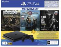 PlayStation 4 Slim 1TB (РСТ) + Жизнь После + God Of War + Одни ИЗ Нас + Ps Plus 3 месяца[PLAYSTATION 4]